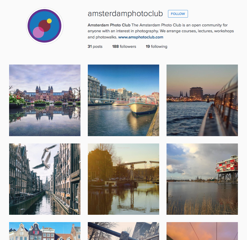 Amsterdam Photo Club Instagram
